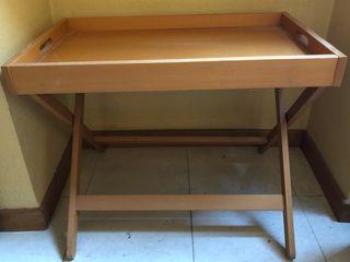 Mesa bandeja con patas Ikea madera haya
