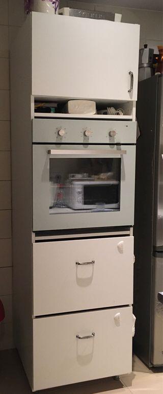 Armario alto de Ikea para horno nuevo