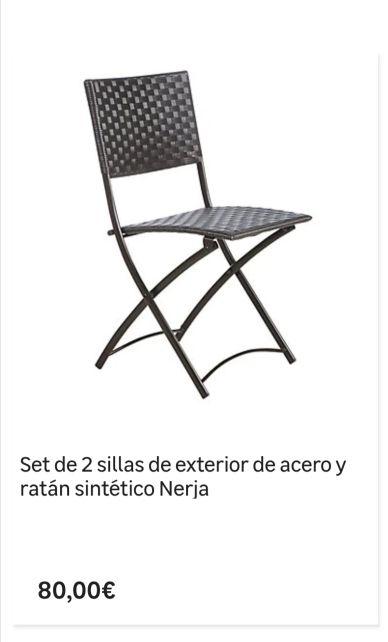 mesa y sillas terraza o jardin