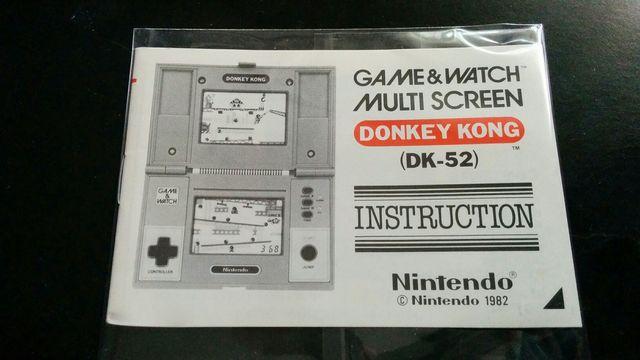 Manual Instrucciones Donkey Kong Game&watch nuevo