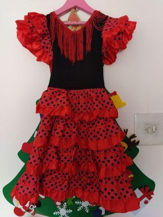 Vestido niña 6 años sevillana disfraz