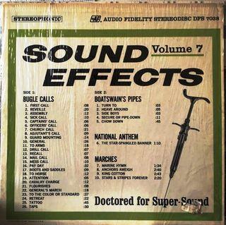 SOUND EFFECTS volume 7 LP