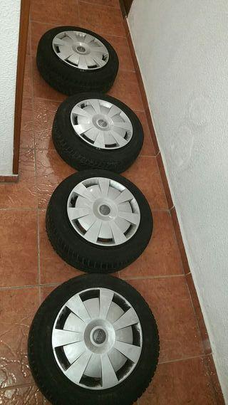 """juego de 4 ruedas 16"""" pulgadas completas Audi VW"""