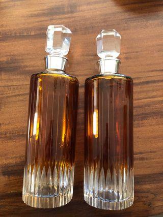 Botellas vintage cuello de plata
