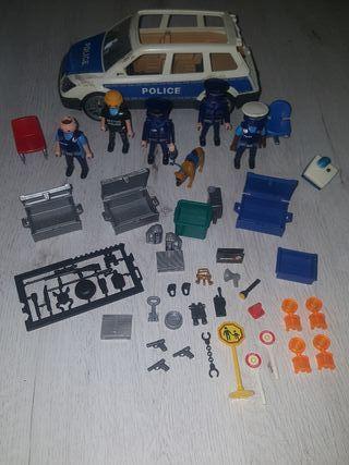 Policias + coche + accesorios + perro Playmobil