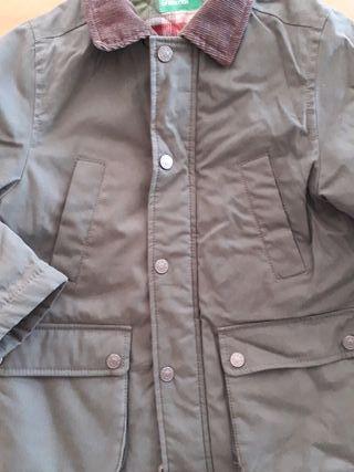 beneton chaqueton-parka niño casi nuevo