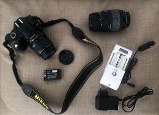 kit cámara Nikon D40 con dos objetivos