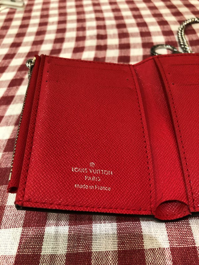 LV x Supreme Key Chain Wallet