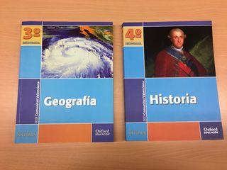 lote libros 3 y 4 ESO geografia e historia oxford