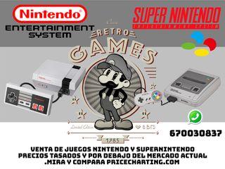 Nintendo Juegos Cartuchos Nes 8-bits Snes 16-bits.