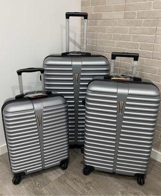 Conjunto de tres maletas nuevas rígidas