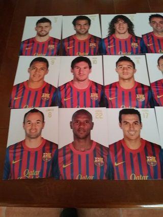 postales jugadores barça 14
