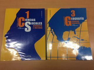 lote libro geografia e historia anaya 1 y 3 ESO
