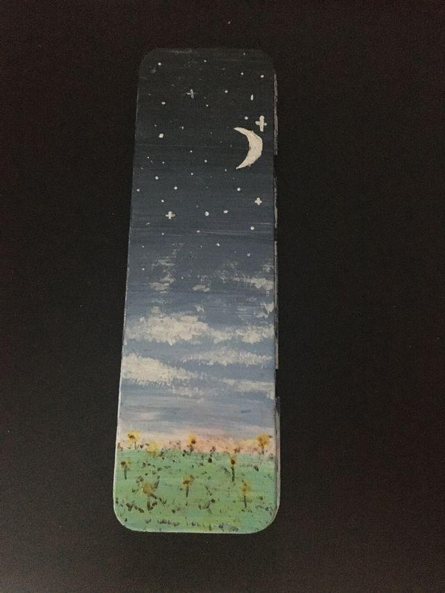 Painted metal pencil holder