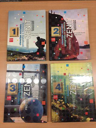 lote libros geografia e historia sm 1 2 3 4 ESO