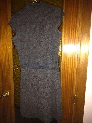 Vestido gris Zergatik talla 42