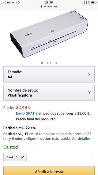 Plastificadora Amazon