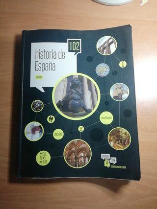 Libro de historia de España de 2 de bachillerato