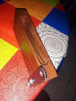 caja de madera para tambor. marca honsuy