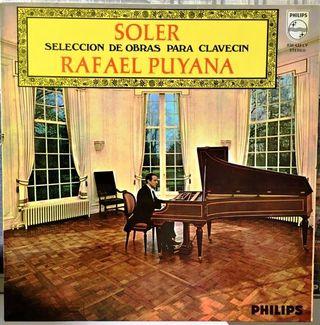 SOLER - PUYANA Seleccion de Obras para Clavecin LP