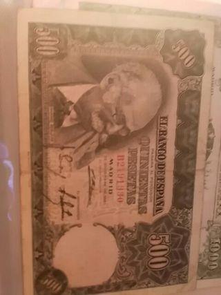 Billete de 500 pesetas 1951