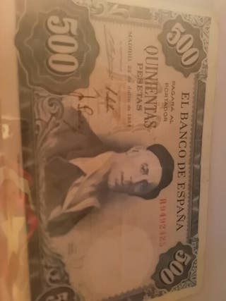 Billete de 500 pesetas de 1954
