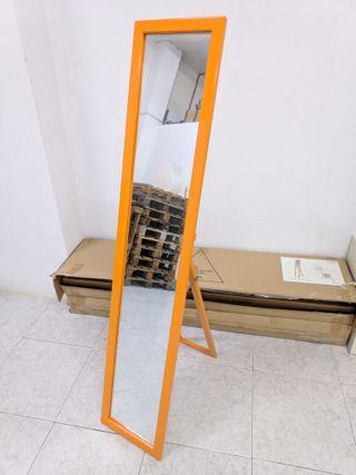 Espejo de pie nuevo marco naranja
