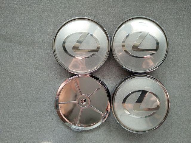Tapabujes centro rueda Lexus plata gris 68mm