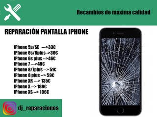 Cambio pantalla iphone