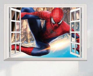 Vinilo Ventana 3d Spiderman. Nuevo