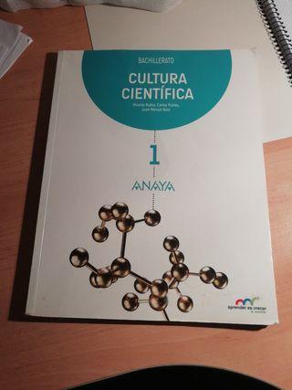 Libro Cultura Científica Anaya SIN ESTRENAR