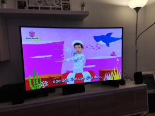 TV Samsung de 55 pulgadas 4k curvo