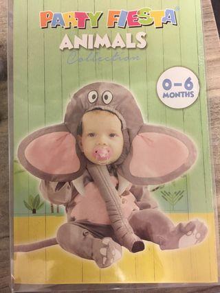 Disfraz elefante 0-6 meses