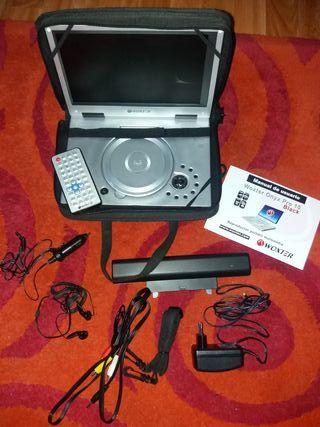 Reproductor portátil DVD Woxter Onyx Pro Black