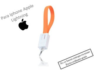 Cable cargador llavero lightning Iphone apple Nara