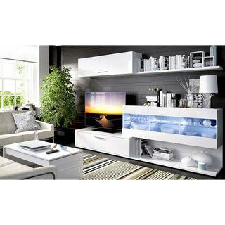 Mueble salon HAN en dos colores a elegir con led