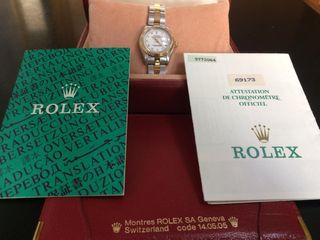 Rolex datejust mujer acero y oro