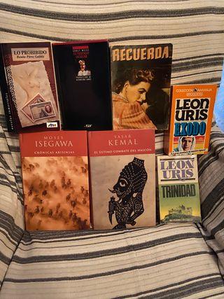 Lote 7 libros literatura contemporanea