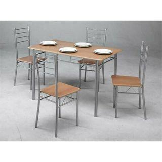 Conjunto de cocina mesa y 4 sillas haya