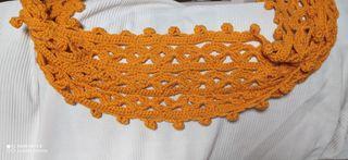 Bufanda textil crochet hecha a mano