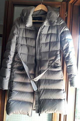 abrigo anorak gris