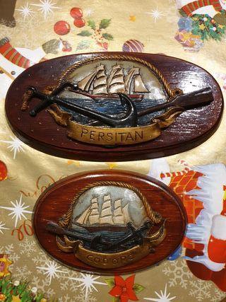 cuadros de barco en relieve