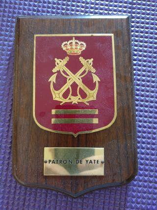 placa de patrón de barco