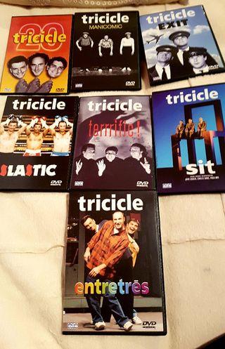 Coleccion 7 dvd TRICICLE NUEVO A ESTRENAR