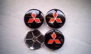 4 Tapabujes centro de ruedas Mitsubishi N-R 68mm