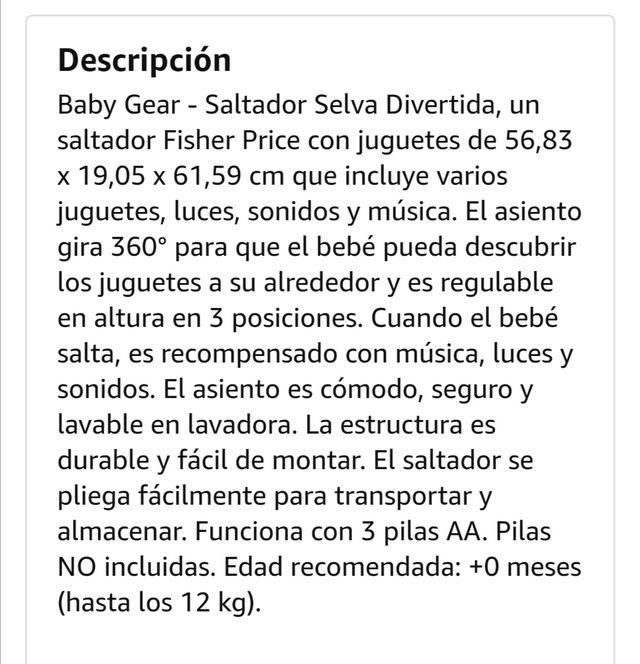 Saltador fisher price selva divertida.