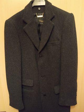 Abrigo Zara hombre gris talla M
