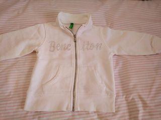 Sudadera blanca Benetton, 2 años
