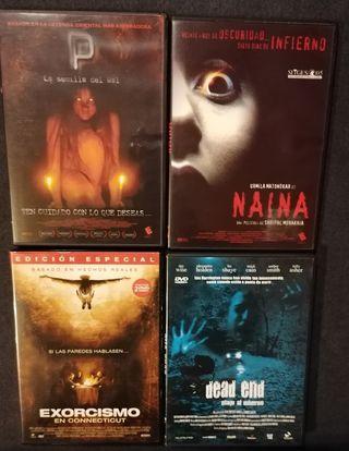 Películas DVDs de Terror