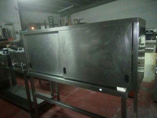 armario con puertas acero
